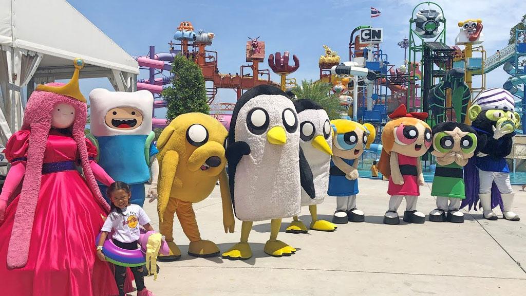 meet cartoon mascots pattaya cartoonnetwork